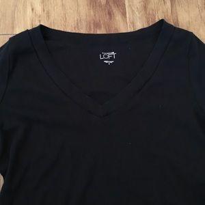 LOFT Tops - Ann Taylor LOFT Cap Sleeve Top - Small - Black